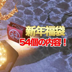 新年福袋54個の内容