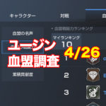 【5/3(木)ユージンサーバー】上位血盟の戦力推移と分析