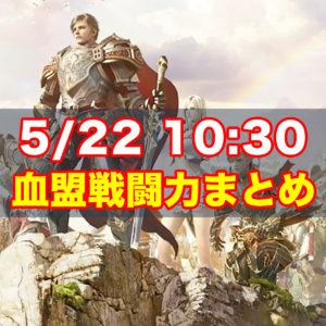 5/22 10:30 血盟戦闘力まとめ
