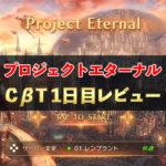 【雑記】MMORPG プロジェクトエターナル CβT1日目レビュー