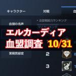 10/31エルカーディア情報|上位血盟の戦力を徹底分析!