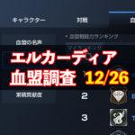 12/26エルカーディア情報|上位血盟の戦力を徹底分析!