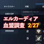 2/27エルカーディア情報|上位血盟の戦力を徹底分析!