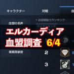 6/4エルカーディア情報|上位血盟の戦力を徹底分析!
