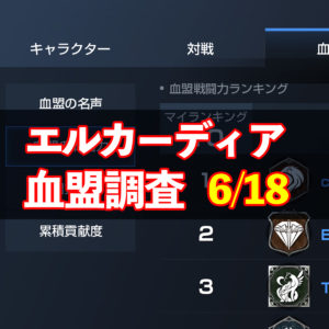 6/18エルカーディア情報|上位血盟の戦力を徹底分析!