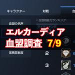 7/9エルカーディア情報|上位血盟の戦力を徹底分析!